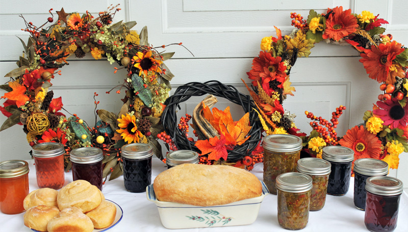 Jams, jellies, baked goods and fall wreaths will be offered at this year's country fair.