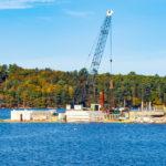Marine Center Waterfront Construction Underway