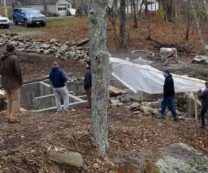 The town of Bristol hopes to create a park and viewing area in a second phase of the Bristol Mills fish ladder project. Construction of phase one should wrap in January, according to the contractor. (Evan Houk photo)