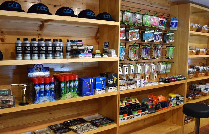 In addition to recreational cannabis products, Coastal Cannabis Co. LLC sells smoking accessories and apparel. The store is the first of its kind in Lincoln County. (Evan Houk photo)