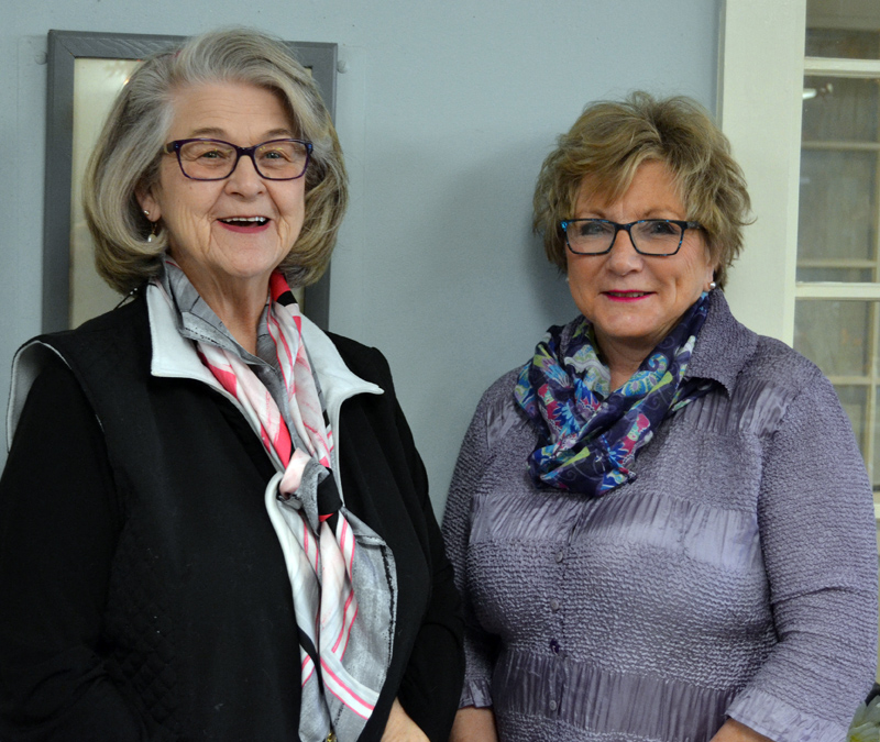 Eleanor Durgan (left) and Anita Parker will close Eleanor & Anita's Salon in downtown Damariscotta on Dec. 31. (Maia Zewert photo)