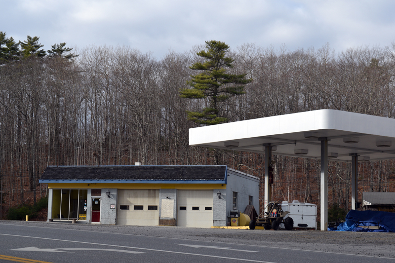 The former Skip Cahill Tire property at 236 Route 1 in Edgecomb. (Hailey Bryant photo)