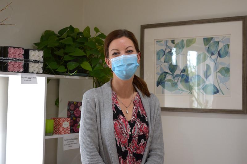 Jennifer Lewis owns Bliss Skin Care in Nobleboro. (Hailey Bryant photo)