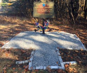 The newly renovated Blue Star Memorial Highway marker is located just past the Damariscotta exit on Route 1.