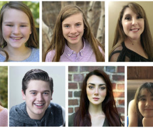 Local competitors in the Maine National Association of Teachers of Singing musical theater auditions. Top from left: Sophia Mansfield, of Boothbay; Violet Holbrook, of Bristol; and Kelly-Ann Walker, of Jefferson. Bottom from left: Sophia Scott, of Boothbay; Harrison Pierpan, of Bristol; Honora Boothby, of Bremen; and Nolah and Olive Pine, of Newcastle.