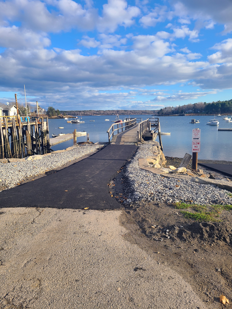 Improvements to the walkway at the middle dock are complete.