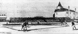 An early baseball game.