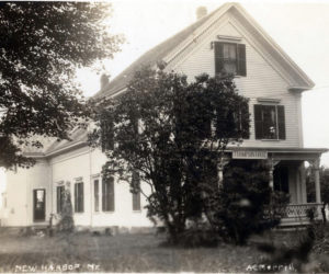 A 1920 photo of the Thompson House in New Harbor. (Photo courtesy Katherine Thompson)