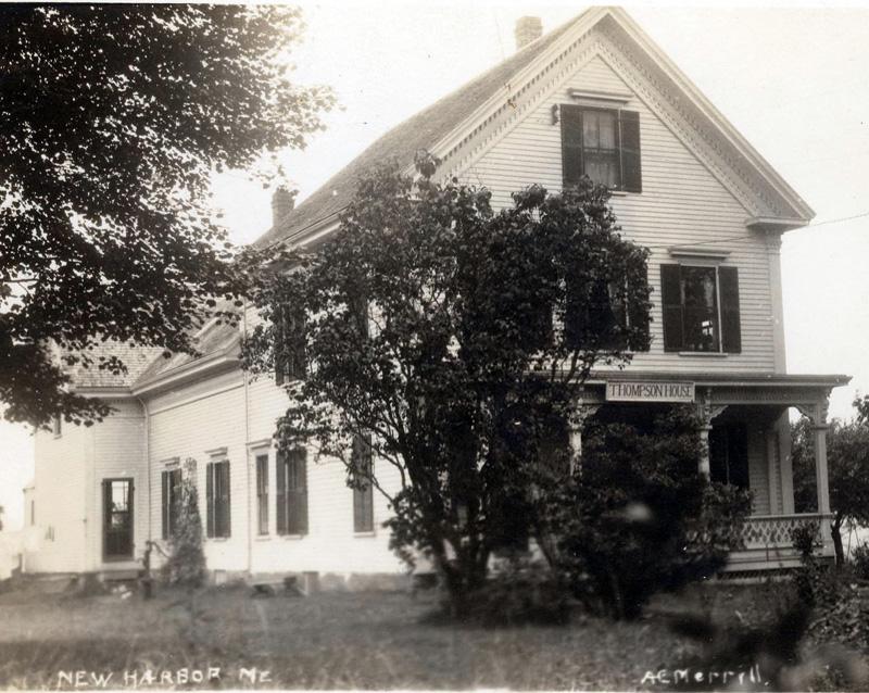 A 1920 photo of the Thompson House in New Harbor. (Photo courtesy Katherine Thompson)