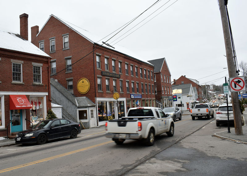 The center of the Main Street historic district in downtown Damariscotta. The selectmen are revising a historic preservation ordinance that intends to protect the character of the district. (Evan Houk photo)
