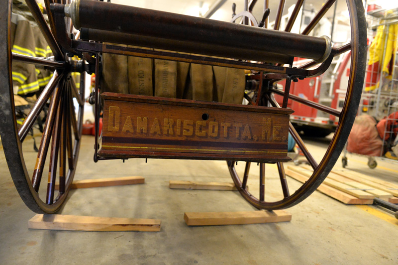 The restored tool box on the back of the C.F. Norris hose reel. (Paula Roberts photo)