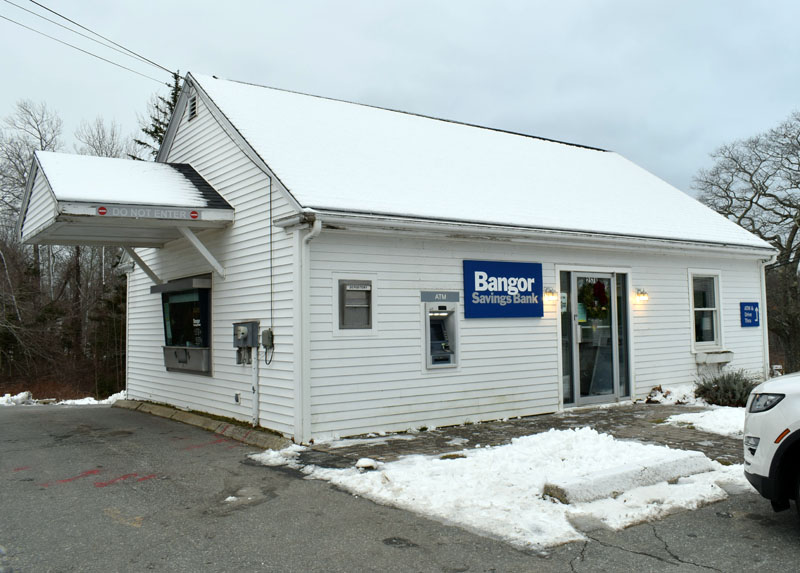 The former Damariscotta Bank and Trust branch in New Harbor is now a Bangor Savings Bank branch. The branch will close Jan. 29 for extensive renovations, but a temporary banking center will be open across the street. (Evan Houk photo)