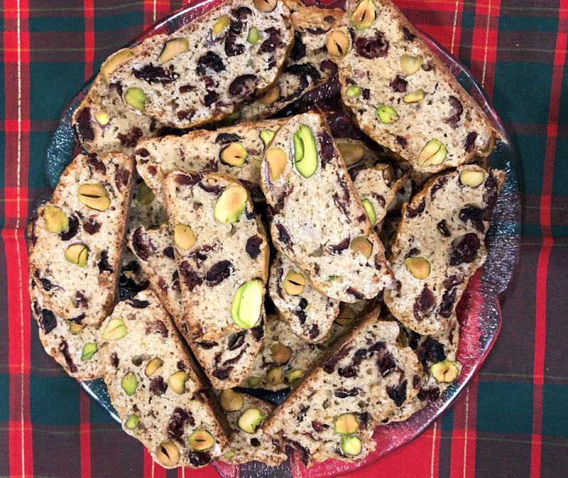 Cranberry-pistachio biscotti. (Photo courtesy I. Winicov Harrington)