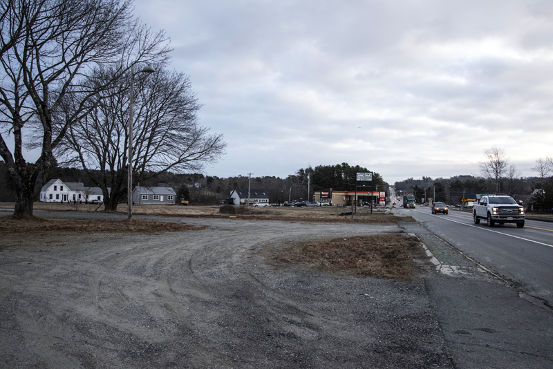 The proposed site of The Coffee Can on Route 1 in Waldoboro, Wednesday, Jan. 20. (Bisi Cameron Yee photo)