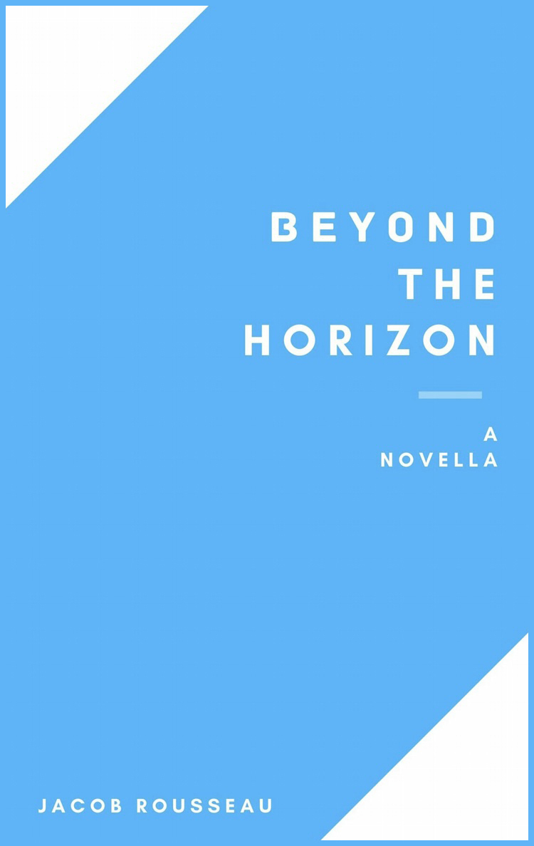 """The cover of """"Beyond the Horizon,"""" available as an e-book on Amazon."""
