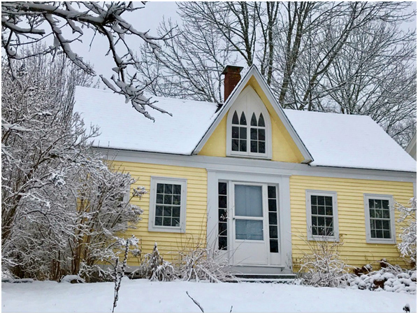 An American Gothic-style home in Damariscotta Mills. (Photo courtesy Mike Christensen)
