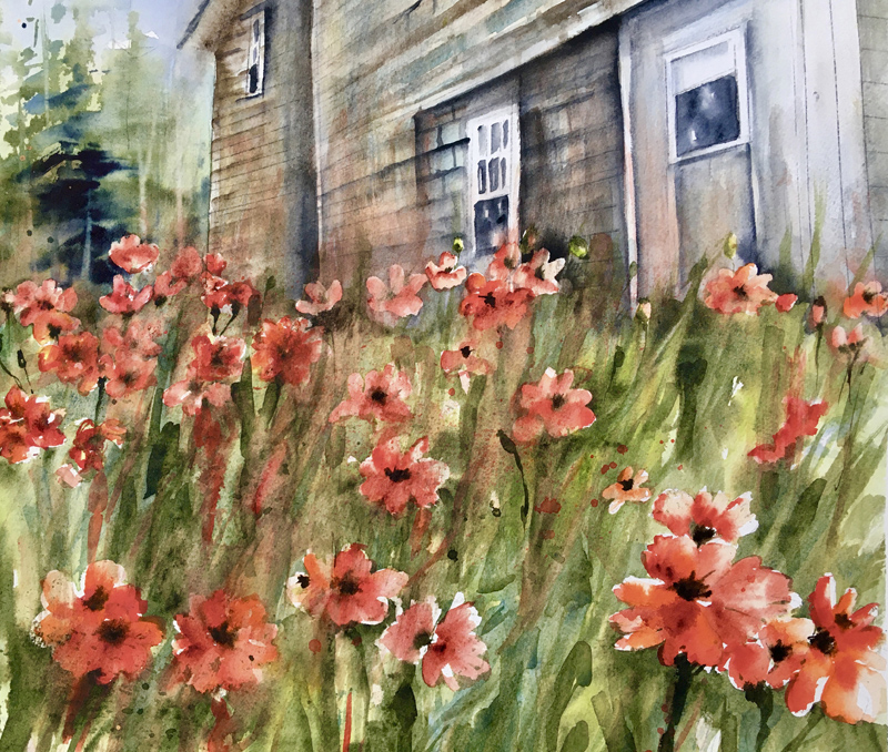 """""""Pemaquid Poppies"""" by Peggy Farrell."""