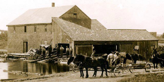 Pemaquid mill, circa 1915.