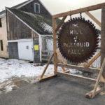 Saw-Blade Sign Installed at Mill at Pemaquid Falls
