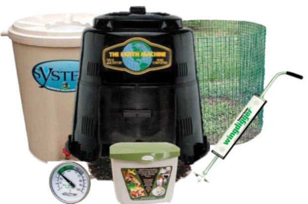 Composting supplies and rain barrels available to local residents to improve soil and conserve water at discounted prices.