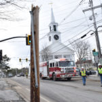 Tractor-Trailer Takes Down Utility Pole in Downtown Damariscotta