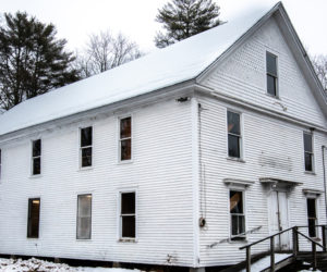 The former Progressive Grange, at 931 Winslows Mills Road in Waldoboro, on Tuesday, Feb. 16. The building dates to the early 1900s. (Bisi Cameron Yee photo)