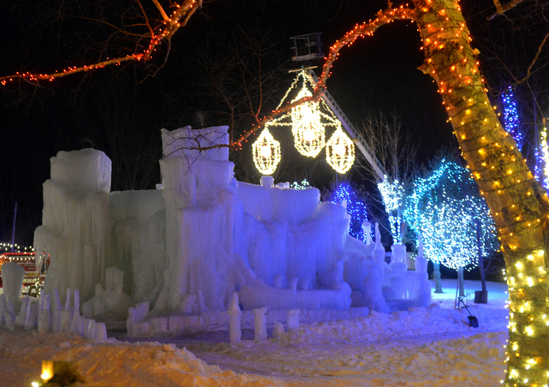 An ice palace at Food Trucks A-Go on Route 27 in Boothbay. (Paula Roberts photo)