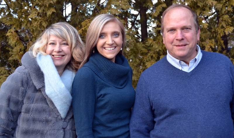 """Team Round Pond at Farrin Properties. From left: Alitha Young, CeCe Verrier, and James """"Jim"""" Matel."""