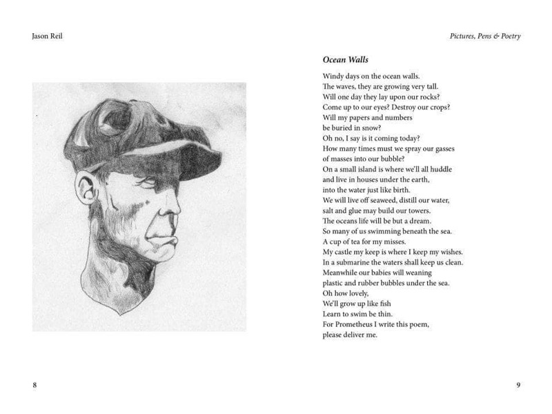 Artwork and a poem by Jason Reil. (Image courtesy Angela Reil)