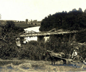"An F.W. Cunningham photo of a bridge at North Whitefield from David Chase's ""Bridges of Whitefield, Maine"" album."