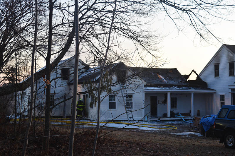 Fire caused significant damage to the back and interior of a home at 1817 Alna Road in Alna early Wednesday, March 10. (Hailey Bryant photo)