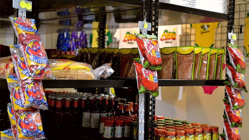 Customers can find authentic Jamaican foods and handmade gifts inside J & J Jamaican Grocery and Gift Shop. (Nettie Hoagland photo)
