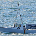 Nearly 100 Fishing Boats Gather to Protest Wind Turbine off Monhegan