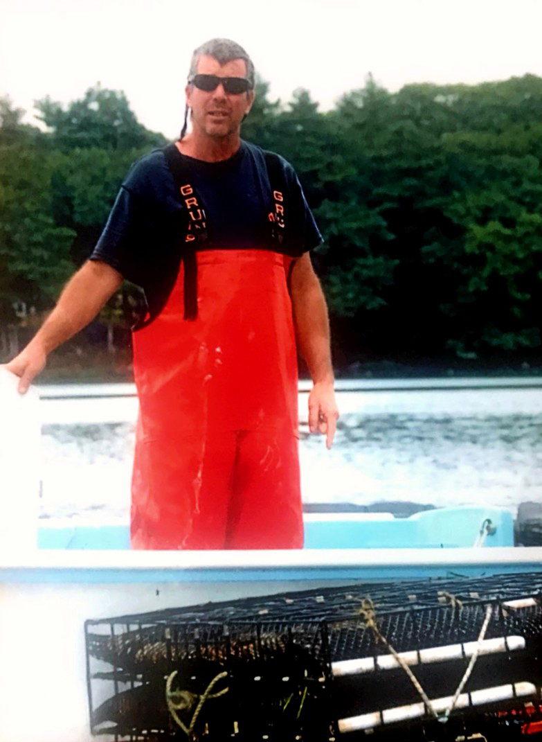 George Faux works on his oyster farm, Great Salt Bay Oyster Co., on the upper Damariscotta River. (Photo courtesy George Faux)