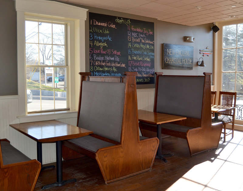 During the Newcastle Publick House's two-month closure, owners Alex and Rachel Nevens painted the interior walls and installed new lights, among other improvements. (Maia Zewert photo)