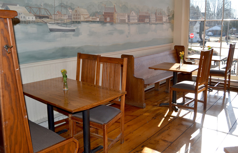 Part of the reconfigured dining room at the Newcastle Publick House. Owners Alex and Rachel Nevens removed some booths to open up the space and improve the flow of the room. (Maia Zewert photo)