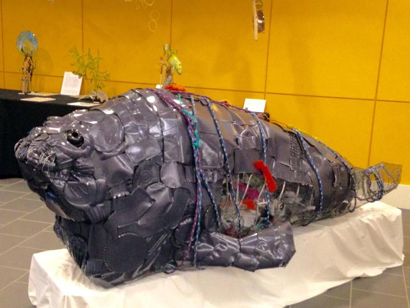 """""""Seamore Plastic"""" by Damariscotta artist Marnie Sinclair."""