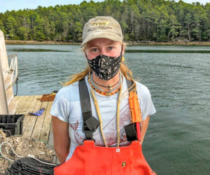 "Esther ""Essie"" Martin, of Newcastle, works at the Brady Lab at the University of Maine's Darling Marine Center."