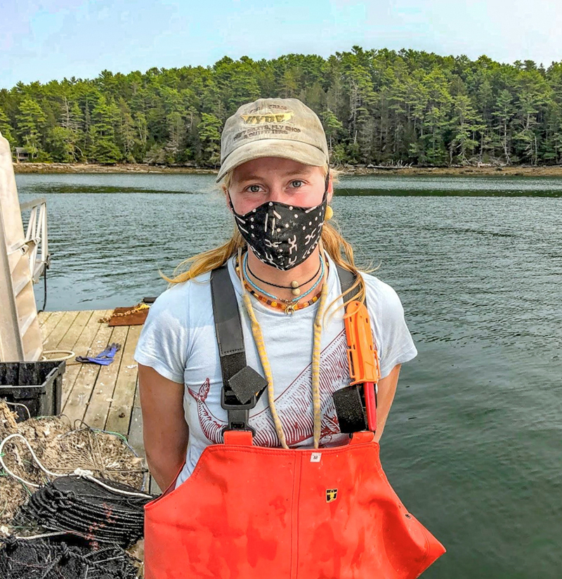 """Esther """"Essie"""" Martin, of Newcastle, works at the Brady Lab at the University of Maine's Darling Marine Center."""