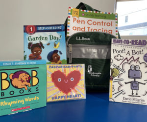 One of the new early literacy kits available at Skidompha Library in Damariscotta.(Photo courtesy Jessie Trafton)