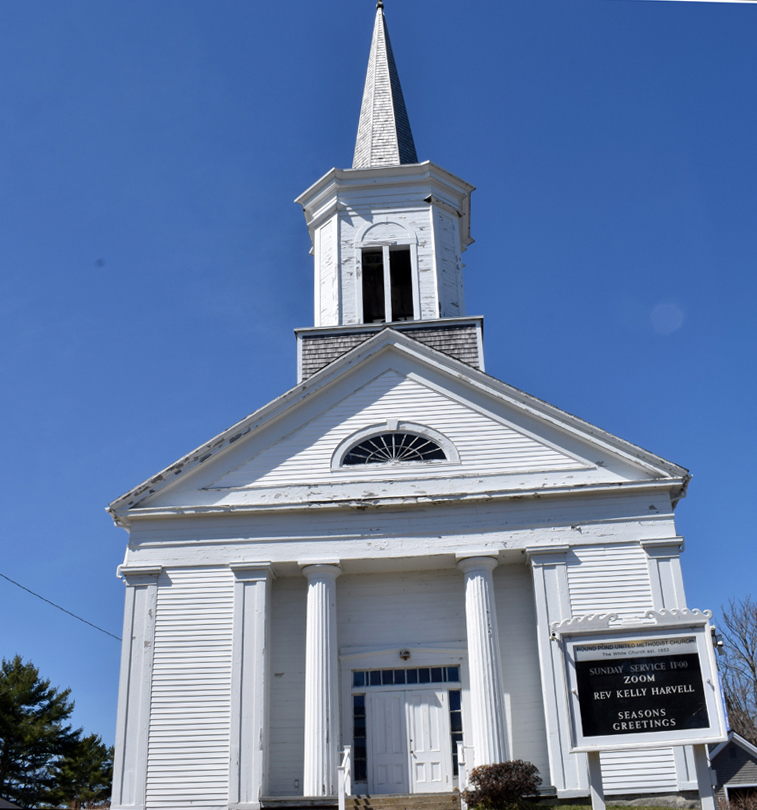 The Round Pond United Methodist Church on Friday, April 9. The church will close June 30. (Evan Houk photo)
