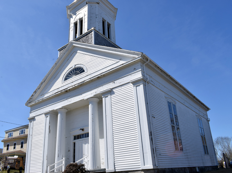 The Round Pond United Methodist Church on Friday, April 9. On April 6, the church's few remaining members voted to close the church effective June 30. (Evan Houk photo)