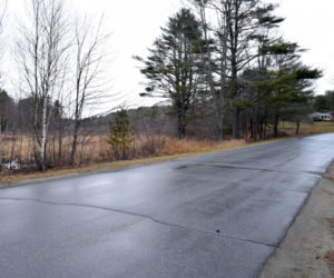 "An area of Back Meadow Road in Damariscotta where a man with a suspicious package was reported the morning of Saturday, April 3. The Maine Drug Enforcement Agency determined that the package was ""just trash,"" according to a spokesperson for the Maine Department of Public Safety. (Evan Houk photo)"