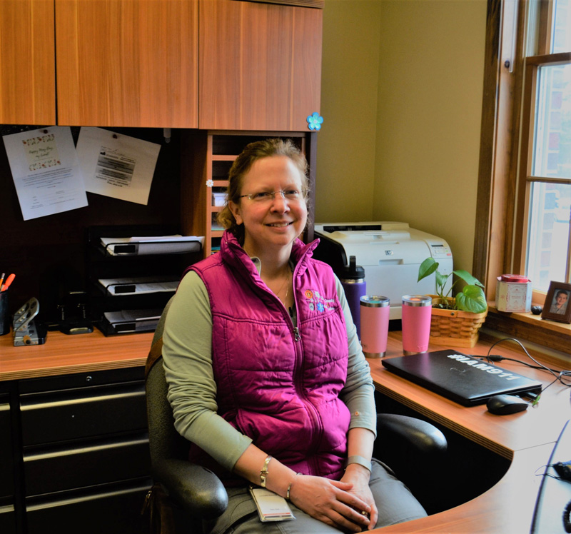 Tara Doe, of Newcastle, is the new director of the Lincoln County Communications Center. The center fields 911 calls and dispatches emergency services throughout the county. (Charlotte Boynton photo)