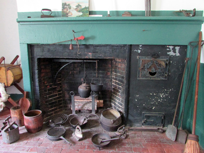 The cooking fireplace in the kitchen of the 1838 jailer's house at the 1811 Old Jail and Museum in Wiscasset. (Photo courtesy Lincoln County Historical Association)