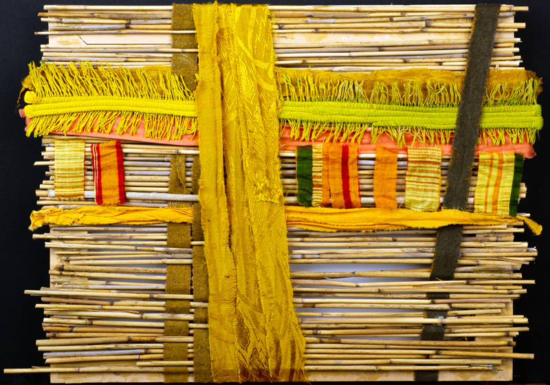 """""""Cloth Work No. 4"""" by Peter Haller is a mixed-media piece in the Maine Art Gallery online auction."""
