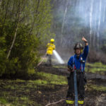 Firefighters Save Buildings as Fire Burns 3-4 Acres in Jefferson