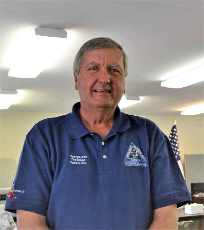 Lincoln County Emergency Management Agency Training and Operations Specialist Kenneth Desmond retired effective April 29. (Charlotte Boynton photo)