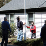 Flag Back Up at Westport Town Office