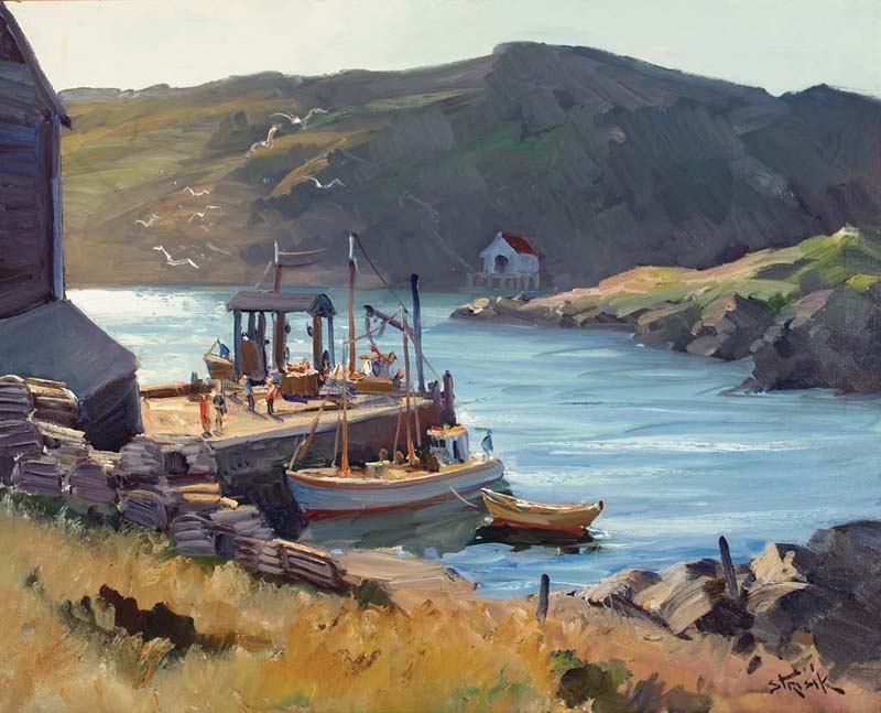 """""""Monhegan Pier"""" by Paul Strisik."""